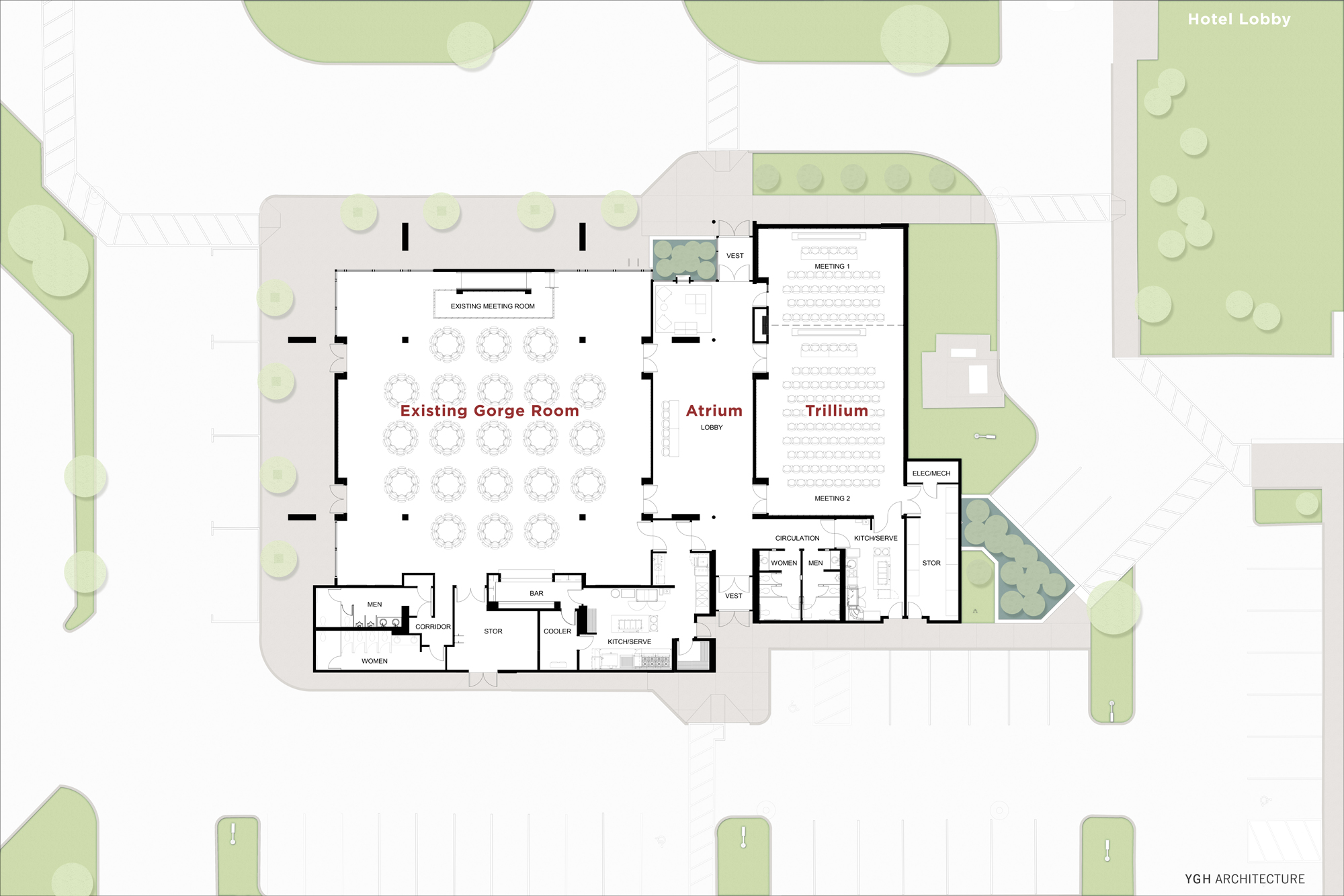 Columbia Gorge Conference Center Site Plan